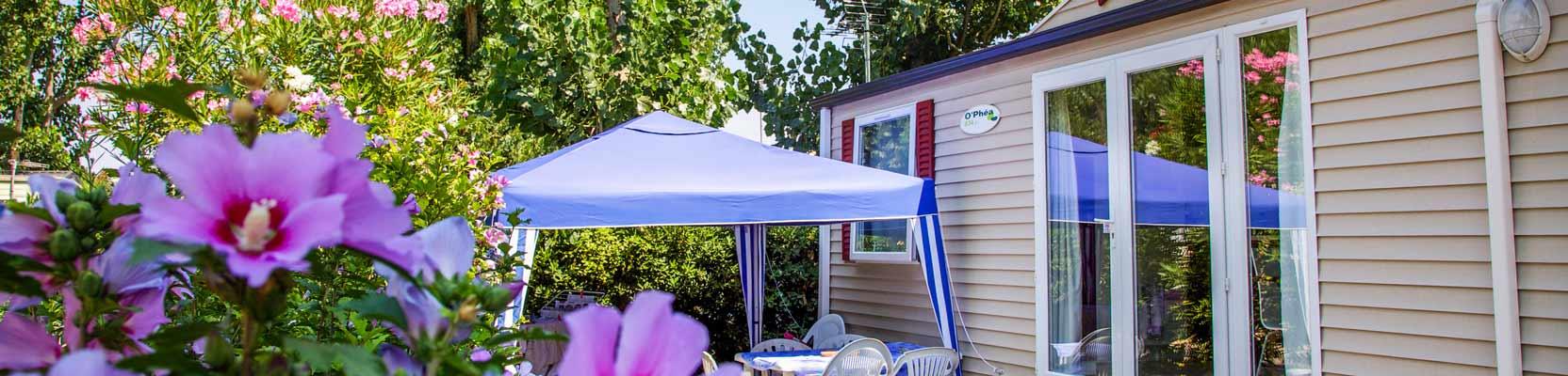 camping location mobil-home 3ch vias